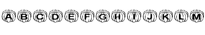 KR Perfect Pumpkin Font UPPERCASE