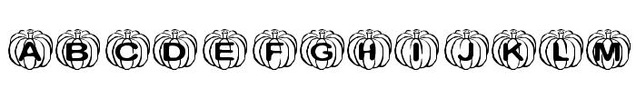 KR Perfect Pumpkin Font LOWERCASE