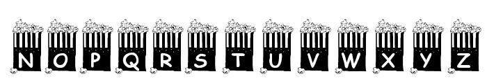 KR Popcorn Time! Font UPPERCASE