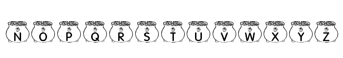 KR Pot O' Gold Font UPPERCASE