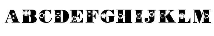 KR Quilt Font UPPERCASE