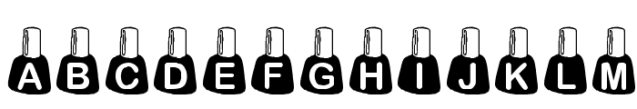 KR Rachel's Polish Font LOWERCASE