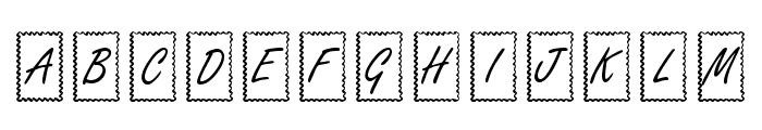 KR Ribbon Frame Font UPPERCASE