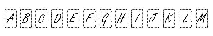 KR Ribbon Frame Font LOWERCASE