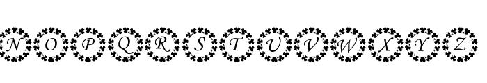 KR Ring O' Shams Font UPPERCASE