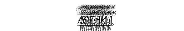 KR Ronny's Rose Font UPPERCASE