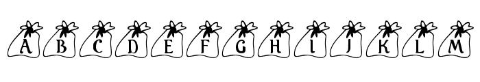 KR Santas Bag Font UPPERCASE
