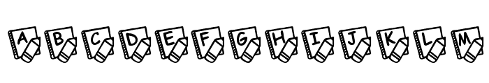 KR School Days Font UPPERCASE