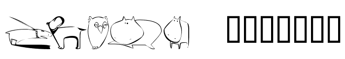 KR Scrappin Animals Font UPPERCASE