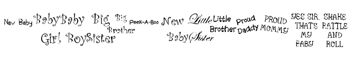 KR Scrappin Babies Font UPPERCASE