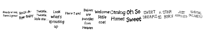 KR Scrappin Babies Font LOWERCASE