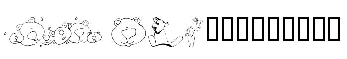 KR Scrappin Bears Font LOWERCASE