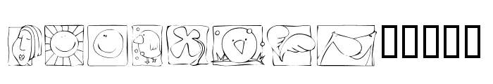 KR Scraps Font UPPERCASE