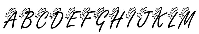 KR Shooting Star [Left] Font UPPERCASE
