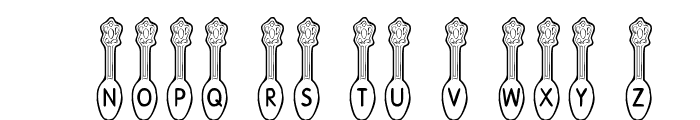 KR Silver Spoons Font UPPERCASE