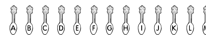 KR Silver Spoons Font LOWERCASE