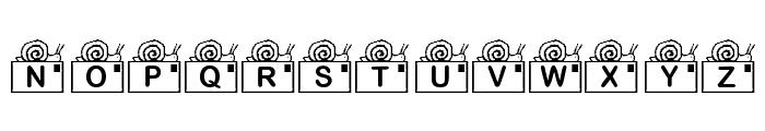 KR Snail Mail Font UPPERCASE