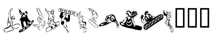 KR Snowboard Font UPPERCASE
