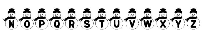 KR Snowman Font UPPERCASE