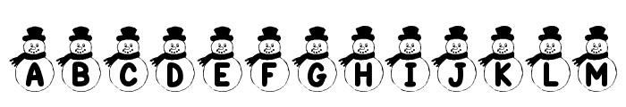 KR Snowman Font LOWERCASE