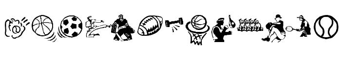 KR Sports Dings Font UPPERCASE