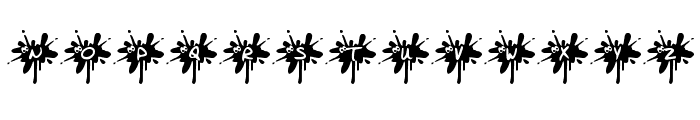 KR Squished Mosquito Font LOWERCASE