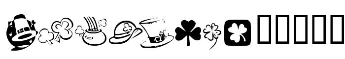 KR St Patricks Day Dings Font UPPERCASE