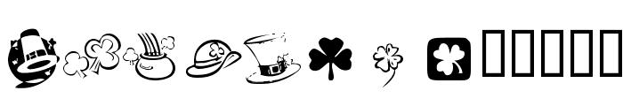 KR St Patricks Day Dings Font LOWERCASE