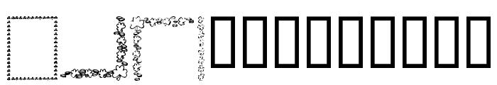 KR St Patricks Frames Font LOWERCASE