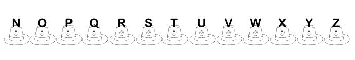 KR St. Patty's Hat Font UPPERCASE