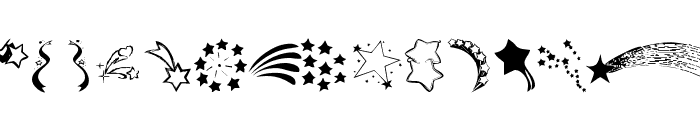 KR Starry Eyed Font LOWERCASE