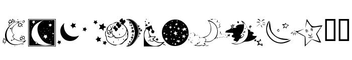 KR Starry Night Font UPPERCASE
