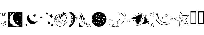 KR Starry Night Font LOWERCASE