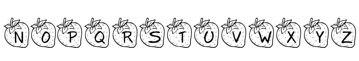 KR Strawberry Font UPPERCASE