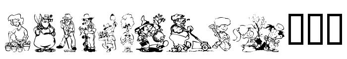 KR Summer Gardening Font UPPERCASE