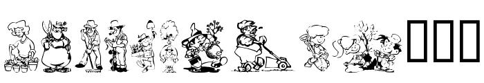 KR Summer Gardening Font LOWERCASE