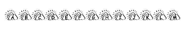 KR Sunny Days Font UPPERCASE