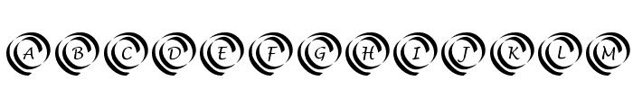 KR Swirl Font UPPERCASE