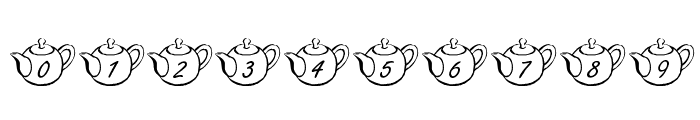 KR Tea Time Font OTHER CHARS