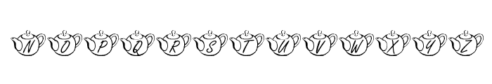 KR Tea Time Font UPPERCASE