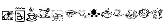 KR Teatime Dings Font UPPERCASE