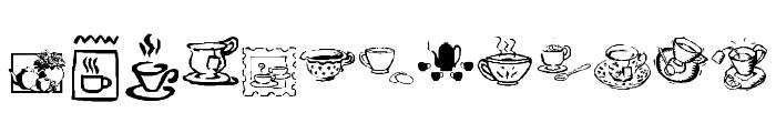 KR Teatime Dings Font LOWERCASE