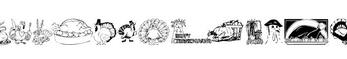 KR Thanksgiving 2002 Font UPPERCASE