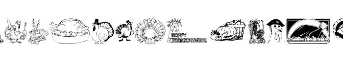 KR Thanksgiving 2002 Font LOWERCASE