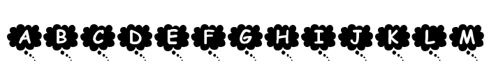 KR Thoughts Font LOWERCASE