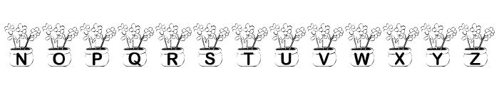 KR Three Flowers Font UPPERCASE