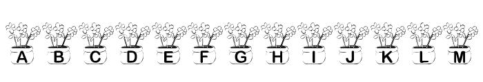 KR Three Flowers Font LOWERCASE