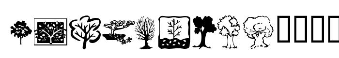 KR Trees Font UPPERCASE
