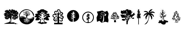 KR Trees Font LOWERCASE