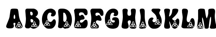 KR Trilobe Font UPPERCASE